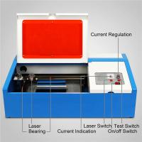 China 40W  Mini Desktop CO2 Laser Engraving Machine 3020 for Acrylic Wood Bamboo Rubber stamp wholesale