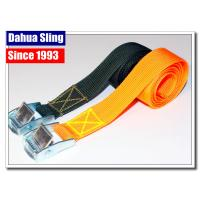 China Zinc Cam Buckle Tie Down Straps , Kayak Tie Down Straps High Tenacity wholesale