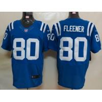 China Nike nfl Indianapolis Colts 80 Fleener Blue Elite Jersey wholesale