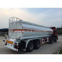 China 8 Wheels 2 Axles Tank Semi Trailer With Landing Gear 2 Manholes And 2 Rooms wholesale
