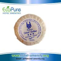 China Round pleat wrapped hotel soap ,guest soap ,hotem amenities soap wholesale
