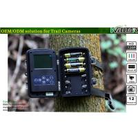 China Motion-triggered Black Flash Trail Cameras 12MP Color CMOS with 720P Video on sale
