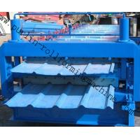 China Metal Roofing Double Layer Roof Tile Roll Forming Machine, Professional Durable Roof Tile Bending Machine wholesale