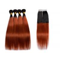 China Natural Virgin Straight Human Hair Weave 3 Bundles No Fiber With Lace Closure wholesale