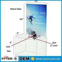 China customized hot sale clear acrylic donation box with locks high quality wholesale