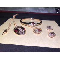 China 18K Rose Gold  Serpenti Bracelet With Rubellite Eyes / Diamond Head And Tails wholesale