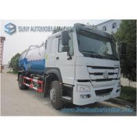 China Large 12000L Q235 Vacuum Tank Truck , 6 Tyre Sinotruk HOWO Truck on sale