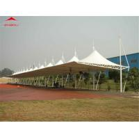 China Iron Material Car Park Shade Structures With PVDF Fabric Over 20 Years Life Span wholesale