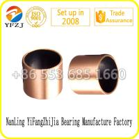 China Lead free du bushing Bi - metal casting bronze bushing with PTFE wholesale
