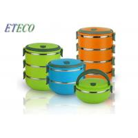 China Stackable Outdoor Picnics Stainless Steel Bento Box Food Storage Lead Free on sale