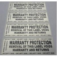 China Custom Printing Permanent Security Labels / Alarm Stickers Waterproof Anti Counterfeit wholesale