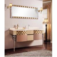 China 202 Stainless Steel Bathroom Vanity , Double Door Mirrored Bathroom Cabinet Stainless Steel wholesale