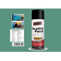 China Apple Green Color Graffiti Spray Paint 400ml Filled With MSDS Certificate wholesale