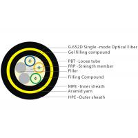Quality 200M Span 12 Core Fiber Cable , Gel Filled Double Layer Loose Tube Fiber Cable for sale