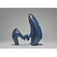 China Third Blue Resin Art Sculpture Interior Contemporary Abstract Sculpture Decoration wholesale