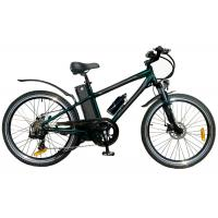 China Custom Black Adults 250W Electric Mountain Bicycle For Mountain Terrain wholesale