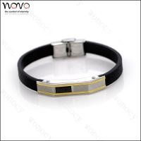 2016 hot Factory direct wholesale stainless steel Fashion Leather Bracelet