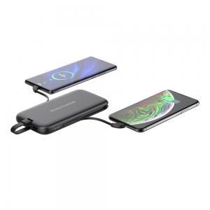 China USB QC3.0 10000mAh Qi Wireless Power Bank Charger on sale