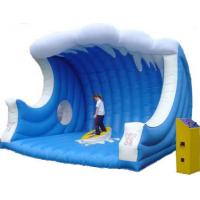 China Customized Inflatable Sports Toys , Inflatable Mat with Mechanical Surfboard wholesale