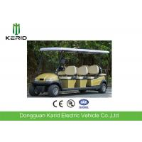 China 8 Passenger Electric Golf Carts Club Car With Rear Seat 25km/h Max Speed on sale