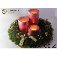 China Decorative Led Candles , Advent Wreath Votive Candles Warm White wholesale