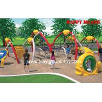 China Large Amusement Park Kids Wooden Climbing Frames , Commercial Outdoor Playground on sale