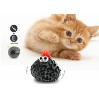 China Cute Interactive Cat Bouncy Ball 20-25 cm Length With Eco Friendly Plush Cover wholesale