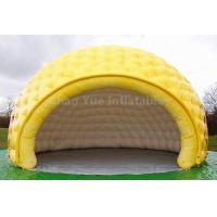 Quality PVC Tarpaulin Yellow Inflatable Dome Tent for outdoor event for sale