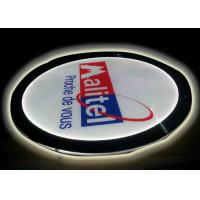 China Crystal Round Picture Frame LED Illuminated Light Box For Display Portriat Image wholesale