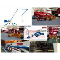 China 15m trailer mobile spider concrete placing boom with flowing proportional valve wholesale