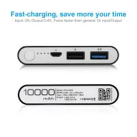 Quality Dual USB Port Pocket Power Bank Rechargeable Battery Portable Charger for for sale
