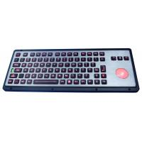 China Robust IP65 Backlit Industrial Keyboard With Trackball wholesale