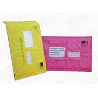 Custom Made Recycled Kraft Bubble Mailer Green / Pink With Window
