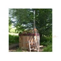 Buy cheap Out door Wood Fired Round Sauna Hot Tub , Red Cedar wooden barrel For 3-5 from wholesalers