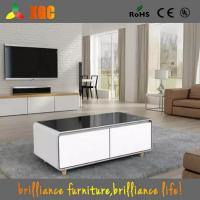 China 2017 New Arrivals Square Smart Coffee Table with a Built-in Fridge and Bluetooth Speakers wholesale