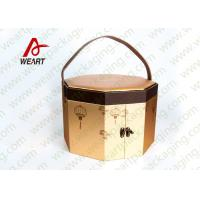 Quality Long Handled Decorative Gable Boxes , Christmas Cardboard Boxes With Lids ODM for sale