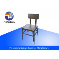 China Armless Heavy Duty Ergonomics Steel Dining Chairs With Welding Structure wholesale