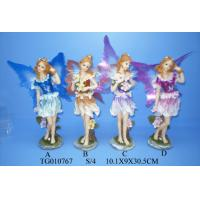 China Wedding Decorations Fairy Polyresin Figurine Resin Crafts With Skirts And Wings wholesale