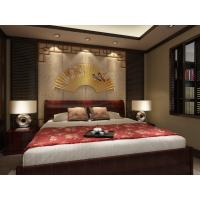 China Embossed Surface Bamboo Fiber 3D Leather Wall Panels For Bedroom Decoration wholesale