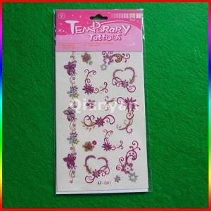 China Glitter Powder Temporary Tattoo Sticker/tattoo made in China wholesale