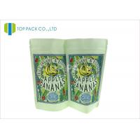 China SGS Kraft Paper Stand Up Pouch , Banana Chips Zipper Top Bag Clear Window wholesale