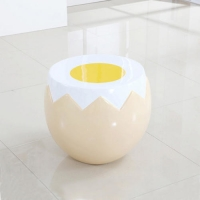 China Egg Table Chair Furniture Sculptures , Resin Modern Table Sculptures wholesale
