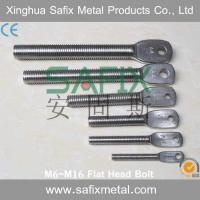 304 316 Stainless Steel Extension Arm M6 M8 M10 M12 M16 Flat Head Bolt For Stone Cladding Fixings