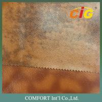China Synthetic Leather Fabric 0.6mm - 1.2mm With Plain , Printing , Shiny , Dots on sale
