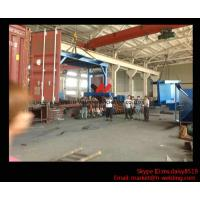 China Eco-friendly High Speed H Beam Shot Blasting Machine With Rubber Curtain / CE Approved wholesale
