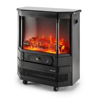 China Mobile electric fireplace heater  log flame effect Roman pillar EF332 wheels room/indoor heater wholesale