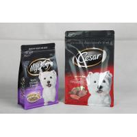 Quality Resealable Printed Dog Food Packaging Flat Bottom Pouch with Zipper for sale