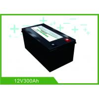 China Black Lithium RV Deep Cycle Battery 12V 300A Low Temp Charging Long Lifespan wholesale