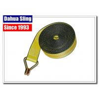 China Yellow Wire Hook Truck Winch Straps , Vehicle Recovery Strap Lightweight wholesale