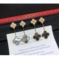 China 2 Motifs 18K Rose Gold Magic Alhambra Earrings With Grey Mother Of Pearl wholesale